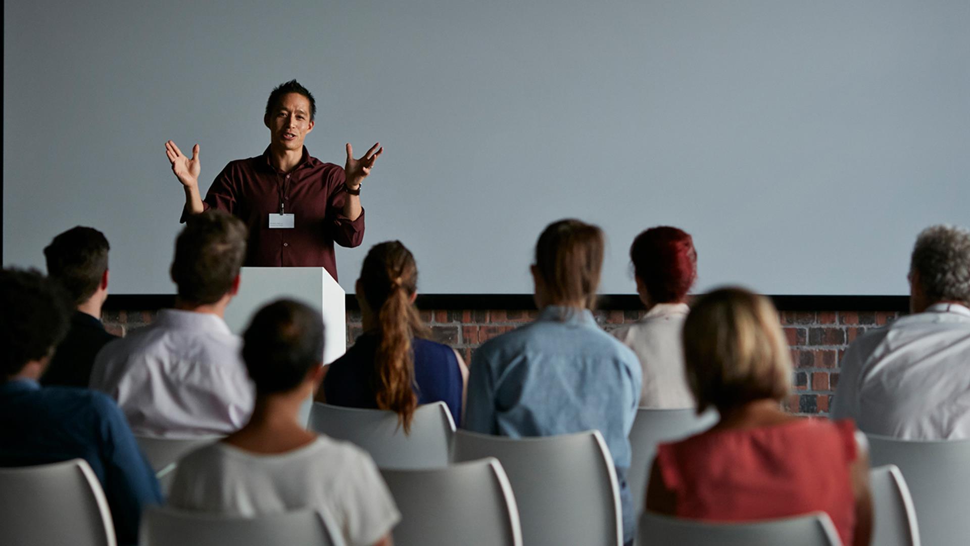Falando em publico
